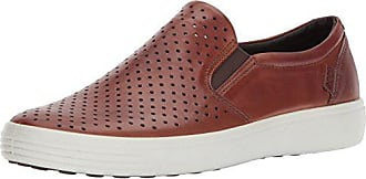Ecco Mens Soft 7 Slip On Sneaker, Mahogany Retro Perforated, 39 M EU (5-5.5 US)