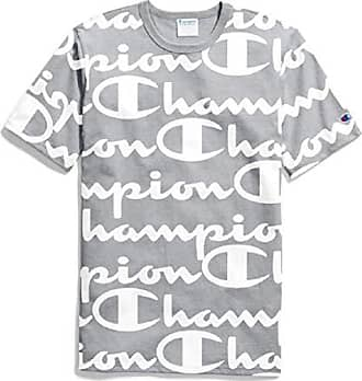 a32563c2 Champion LIFE Mens Heritage Tee, Giant CHP Script Oxford Grey, Large
