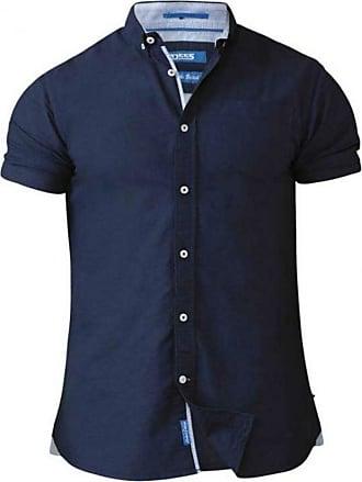 Duke London Duke Mens D555 Norman Button Down Oxford Tall Shirt-Blue-LT