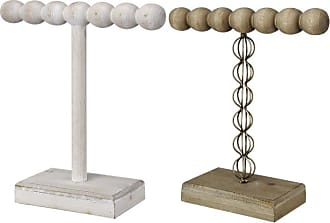 A & B Home Beaded Wood and Iron Jewelry Stands - Set of 2 - 43069