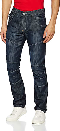 Crosshatch Mens Newport New DW Ch Blk LBL Jean Straight, Blue (Dark Wash), W30/L34 (Size:W30)