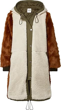 Sea New York Madeline Canvas-trimmed Paneled Faux Fur And Faux Shearling Coat - Brown