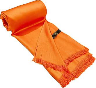 CJ Apparel Orange Fringe Solid Colour Design Shawl Scarf Wrap Stole Throw Pashmina Pashminas CJ Apparel NEW