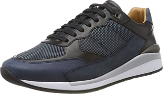 BOSS Mens Element_Runn_numx Low-Top Sneakers, Blue (Navy 401), 7 UK