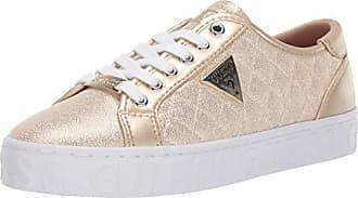 Guess Womens GRACEEN Sneaker, Gold, 7.5 M US