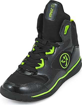 Zumba Energy Boom High Top Athletic Shoes Dance Training Workout Women Shoes, Black, 4 UK