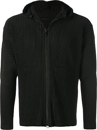 Homme Plissé Issey Miyake pleated hooded jacket - Black
