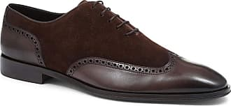 Jones Bootmaker Archibald Wing-Tip Oxford Shoes Brown