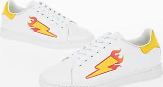 Neil Barrett Sneakers THUNDERBOLT FLAME TENNIS in Pelle taglia 41