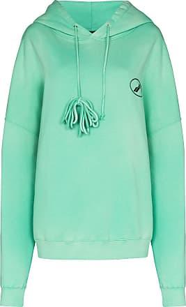 We11done logo-print hoodie - Verde