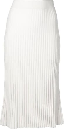 N.Peal Ribbed Knit Skirt - White