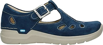 Wolky Comfort Mary Janes Smiley - 40820 Denim Blue Oiled Suede - 39