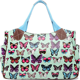 Quirk Oilcloth Tote Bag Butterfly Green