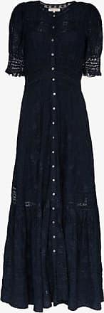 LoveShackFancy Loveshackfancy Womens Blue Minka Cotton Maxi Dress