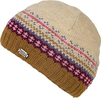 KuSan 100% Wool Fine Gauge Beanie Hat (Toffee/Rose) (PK1604)