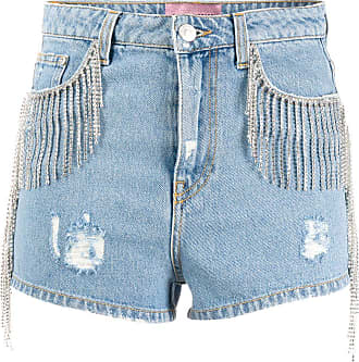 Chiara Ferragni Short jeans com destroyed - Azul