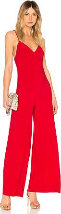 Norma Kamali Slip Jumpsuit in Red