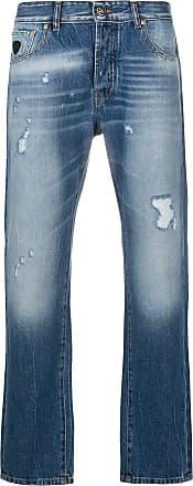 John Richmond Calça jeans reta Maudlin - Azul