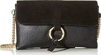 Pieces Pcilva Leather Cross Body Womens Cross-Body Bag, Black, 3x10x18 centimeters (B x H x T)