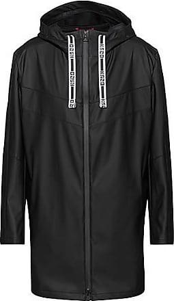HUGO BOSS Wasserabweisender Regular-Fit Regenmantel mit Kapuze und Logo-Kordel