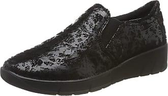 Jana Womens 8-8-24701-23 Loafers, Black (Black 001), 7.5 UK
