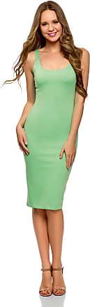 oodji Womens Jersey Vest Dress, Green, UK 4 / EU 34 / XXS