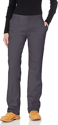 Dickies FP221 Womens Flat Front Pant, 14, Dow Charcoal