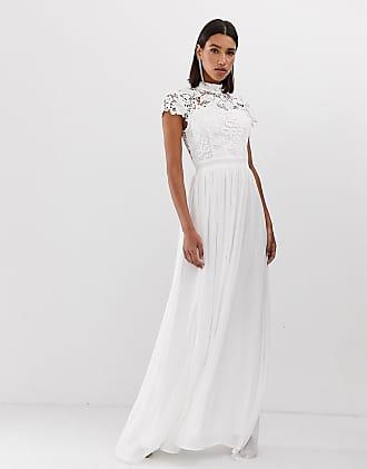 Club L Club L - Lange jurk met gehaakt detail-Wit