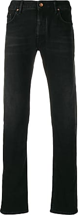 Hand Picked Calça jeans reta Ravello - Preto