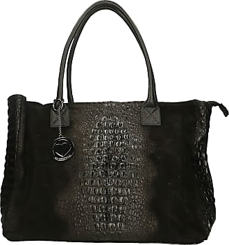Chicca Borse Leather in Genuine Leather Made in Italy 53x30x16 cm