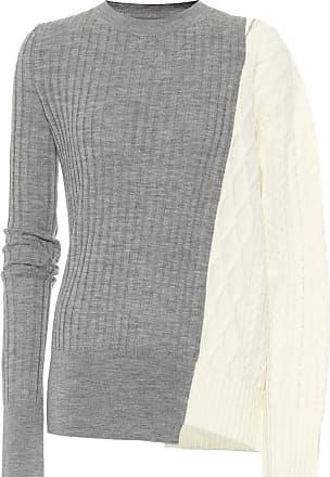 sacai Asymmetrischer Pullover aus Wolle