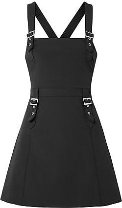 Opening Ceremony Opening Ceremony Woman Buckle-detailed Crepe Mini Dress Black Size 2