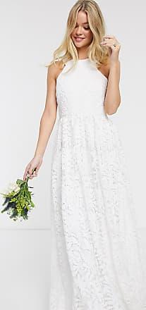 Y.A.S Bruiloft - Lange jurk van kant met insnijdingen in wit