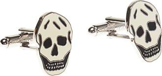 Alexander McQueen Skull Motif Cufflinks Mens Gold
