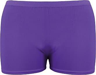 Momo & Ayat Fashions Ladies Viscose Stretch Microfibre Hot Pants Shorts UK Size 8-18 (M/L (UK 12-14), Purple)
