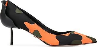 Le Silla Sapato Petalo com salto 40mm - Laranja