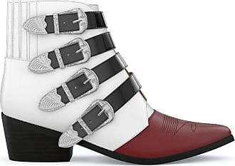 Toga Archives Ankle boot de couro - WHITE