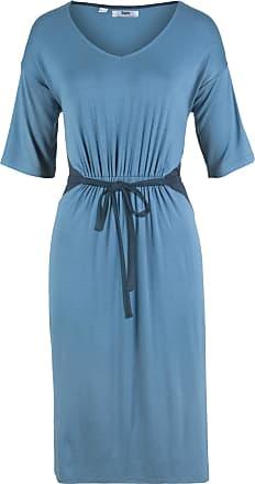 108562c511c Bonprix Kleid mit Bindedetail Sommerkleid halber Arm in blau von bonprix