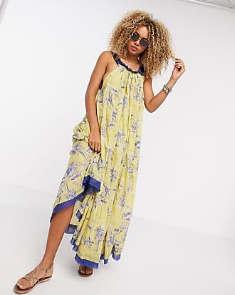 Free People Tropical Toil maxi dress in yellow