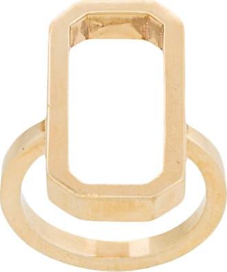Julia Davidian Anel Octagon de ouro - Metálico