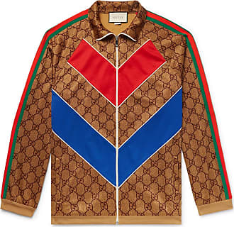 36e81d76ad4 Gucci Oversized Webbing-trimmed Logo-print Tech-jersey Track Jacket - Brown