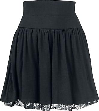 92458d942f558f EMP Floral Lace Skirt - Medium-lengte rok - zwart