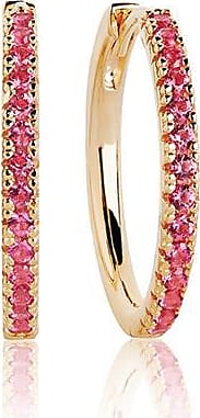 Sif Jakobs Jewellery Earrings Ellera Grande - 18k gold plated with red zirconia