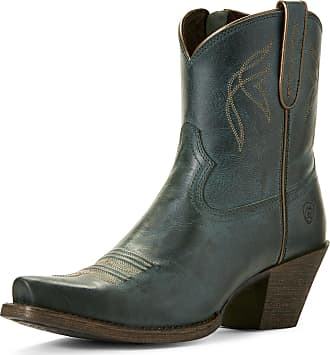 Ariat Womens Lovely Western Boots in Blue Grass Leather, B Medium Width, Size 3.5, by Ariat