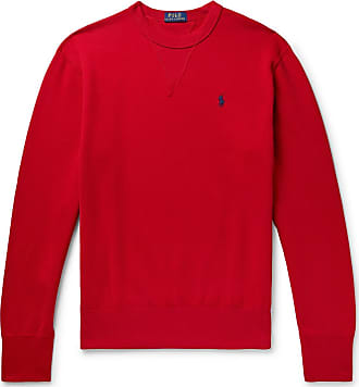 Polo Ralph Lauren Fleece-back Cotton-blend Jersey Sweatshirt - Red