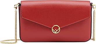 Fendi Bolsa mini com corrente - Vermelho