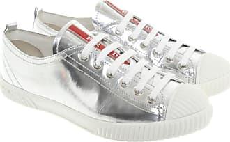 4d00c3b0d74b8 Prada gebraucht - Sneakers aus Leder in Silbern - EU 36