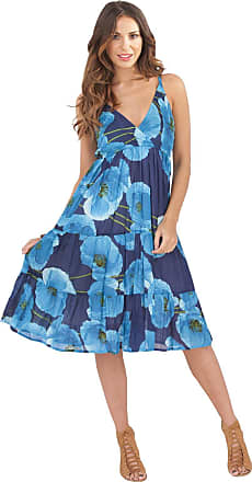 Lora Dora Womens Summer Dress V Neck Flower Pods Black Size Medium
