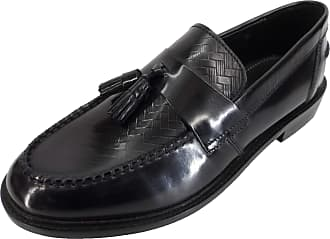 Ikon Mens Selecta Tassle Loafers (12 UK, Black Weave)