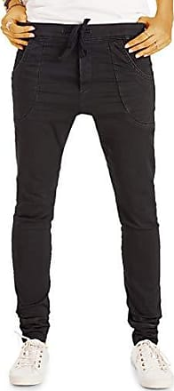 bestyledberlin Damen Basic Boot Cut Hüftjeans Slim FIt Schlag Jeans Hose in Schwarz j74kw
